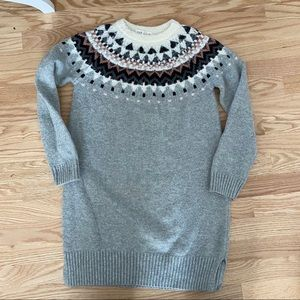 Gap Kids Wool Blend Sweater Dress XXL Gray 14 16
